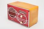 Sparton 500C Red Cloisonné Art Deco Radio with Catalin Case